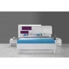 8090 Oscar Beyaz yatak odası tk.